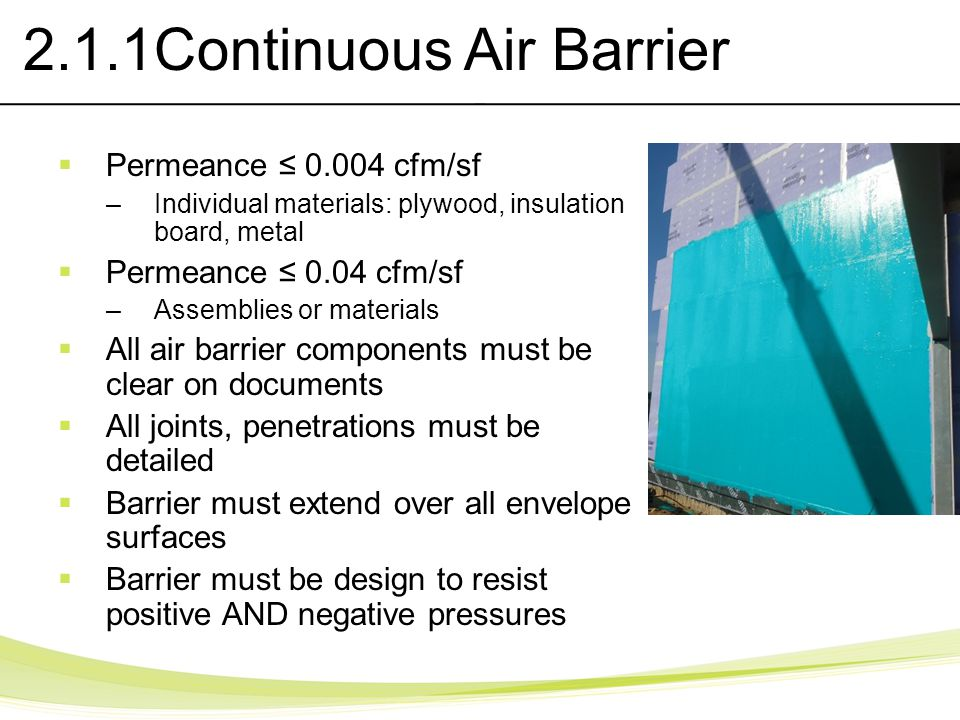 2.1.1Continuous Air Barrier