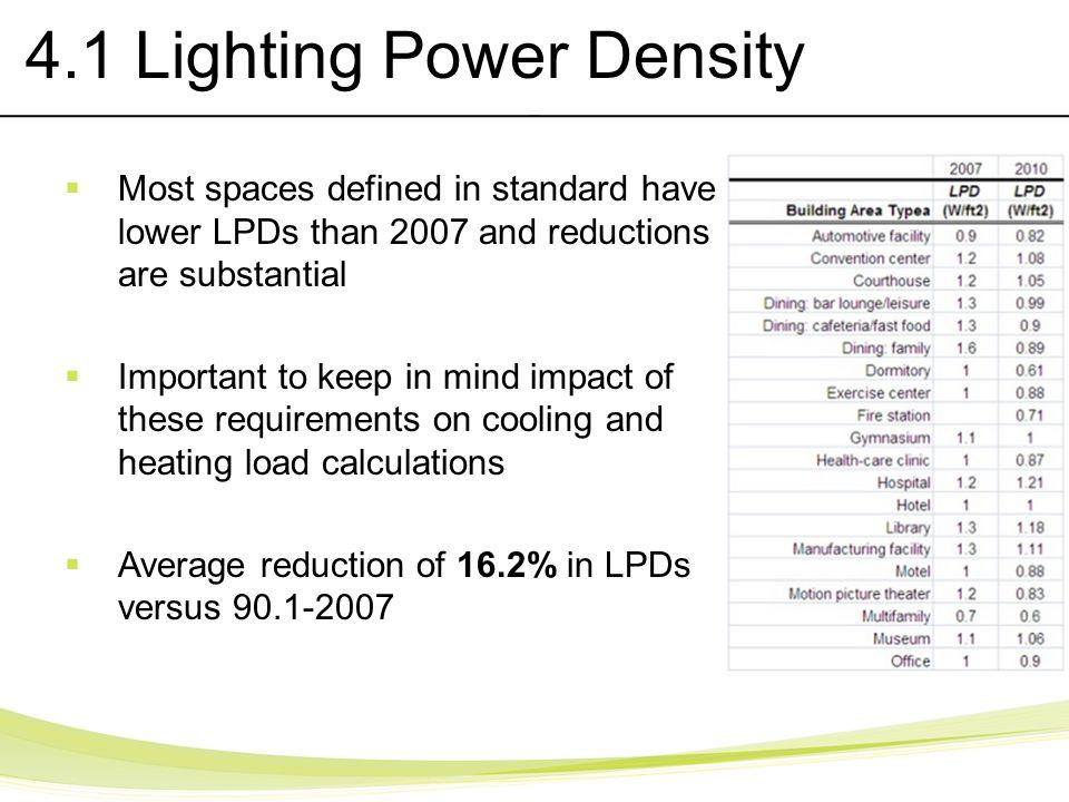 4.1 Lighting Power Density
