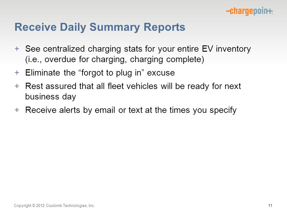 Receive Daily Summary Reports