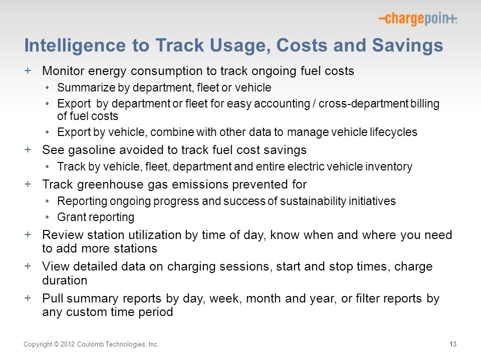 Intelligence to Track Usage, Costs and Savings