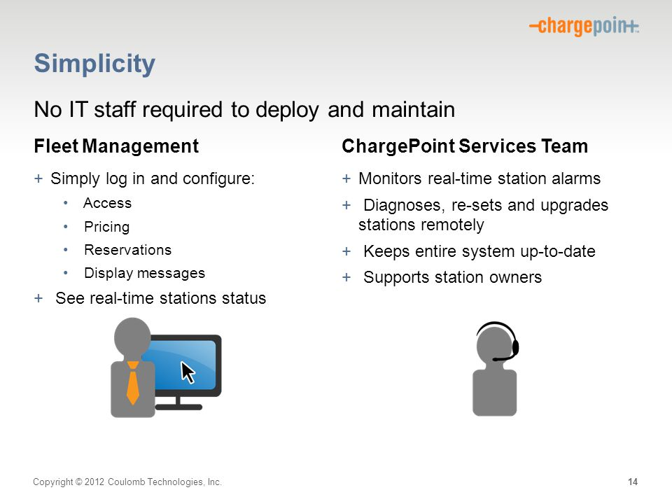 Simplicity No IT staff required to deploy and maintain