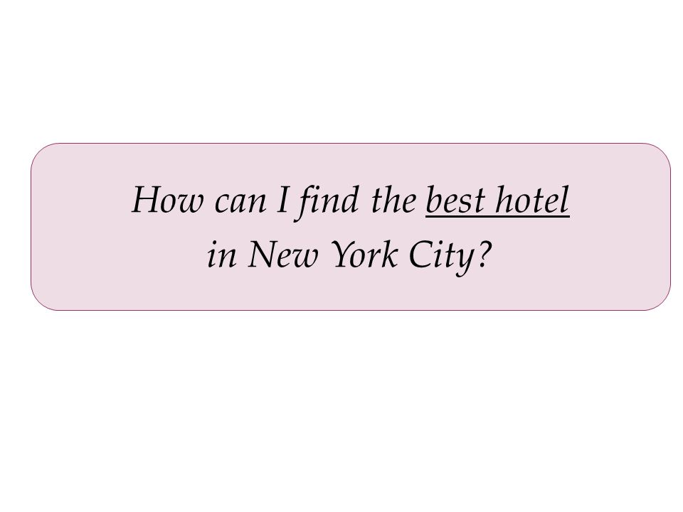 How can I find the best hotel