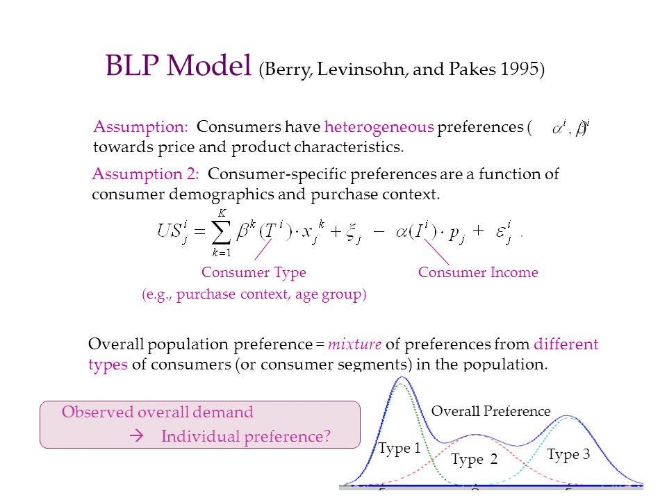 BLP Model (Berry, Levinsohn, and Pakes 1995)