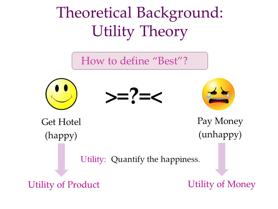 Theoretical Background: Utility Theory