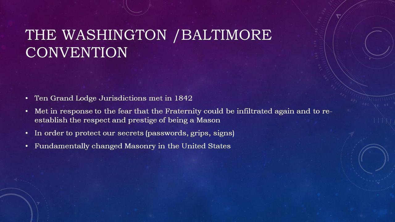 The Washington /Baltimore convention