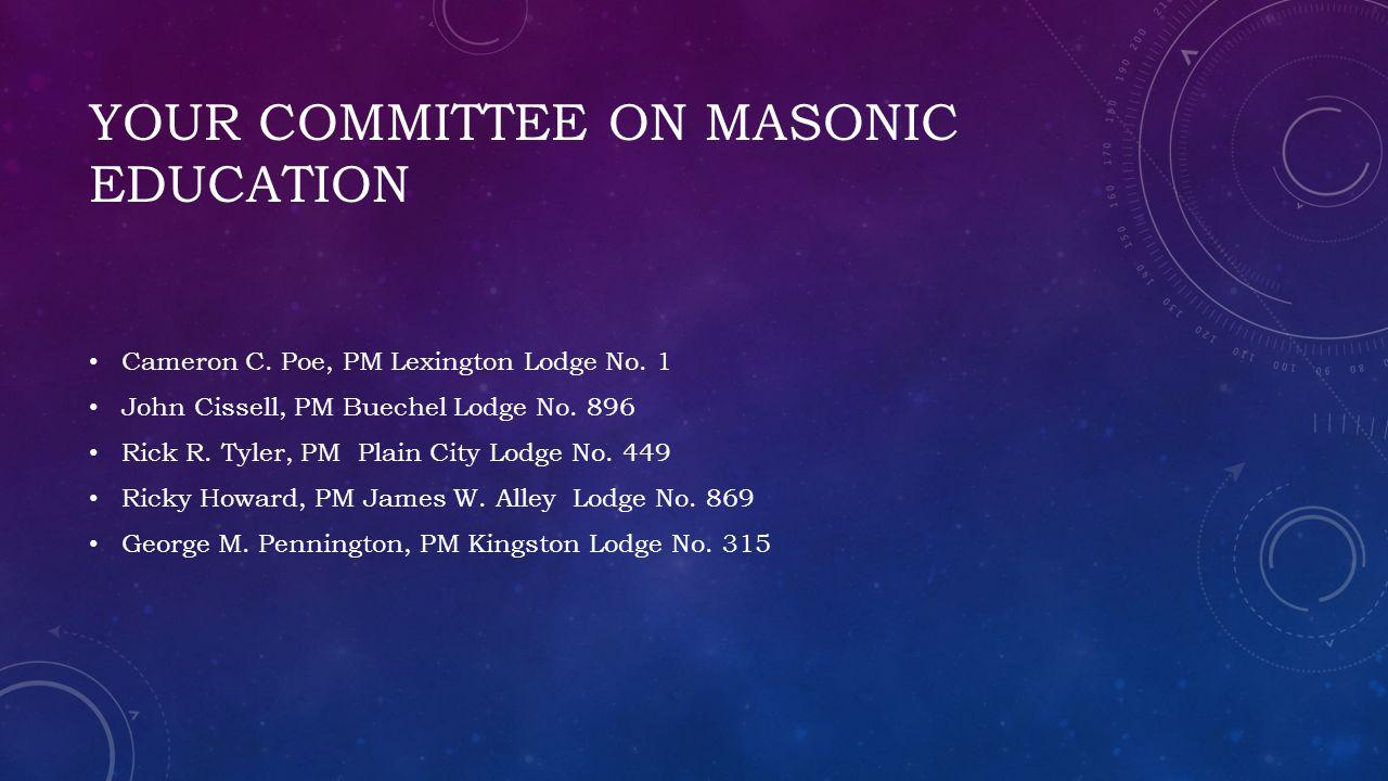 Your Committee on Masonic Education