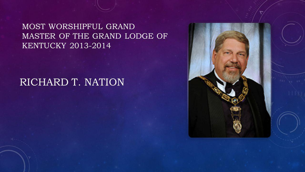 Most worshipful grand master Of the grand lodge of Kentucky 2013-2014