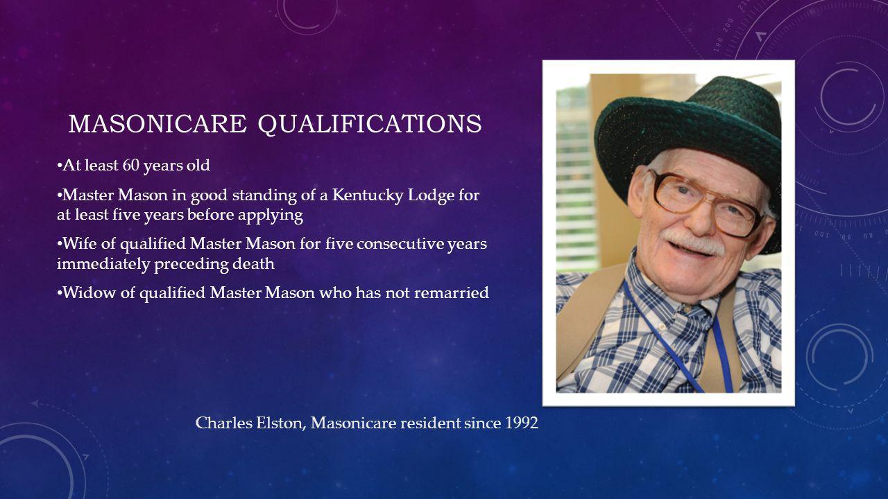 Masonicare qualifications