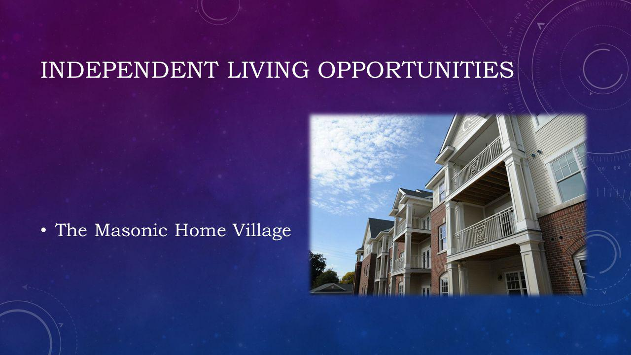Independent living opportunities