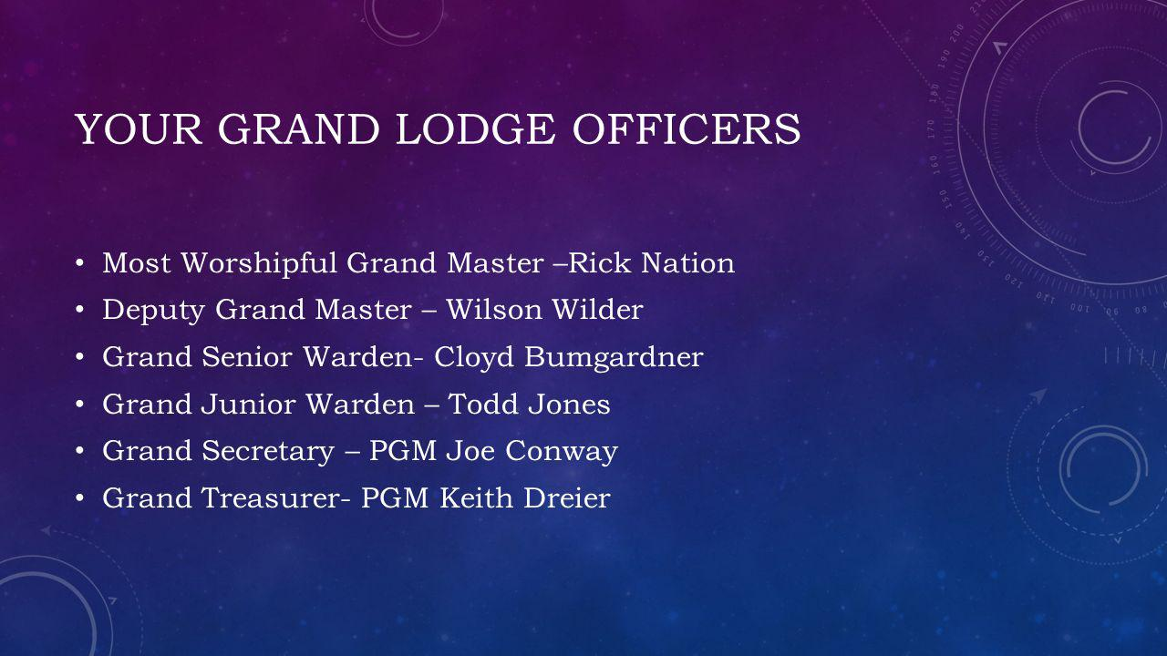 Your grand lodge officers