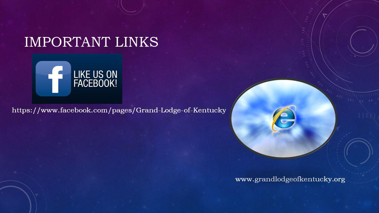 Important links https://www.facebook.com/pages/Grand-Lodge-of-Kentucky