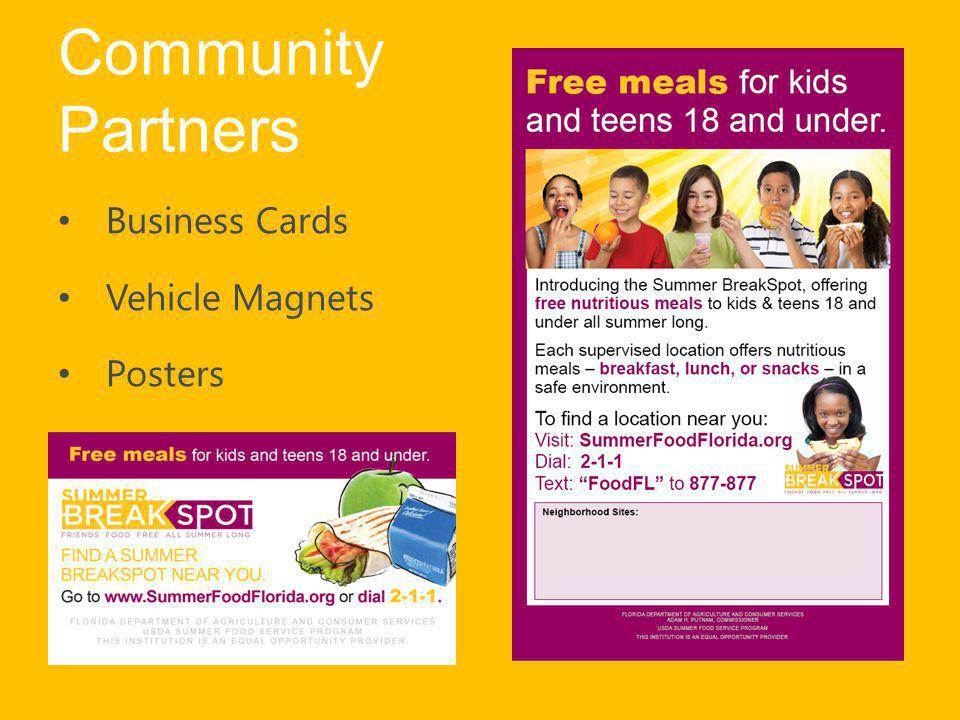 Community Partners Business Cards Vehicle Magnets Posters