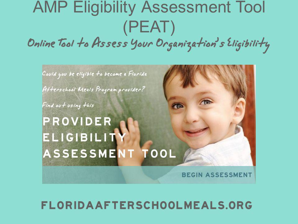 AMP Eligibility Assessment Tool (PEAT)