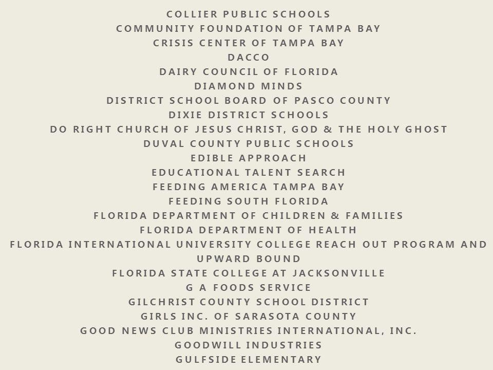 COLLIER PUBLIC SCHOOLS COMMUNITY FOUNDATION OF TAMPA BAY