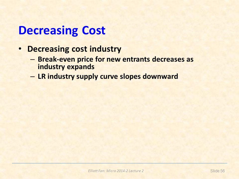 Decreasing Cost Decreasing cost industry