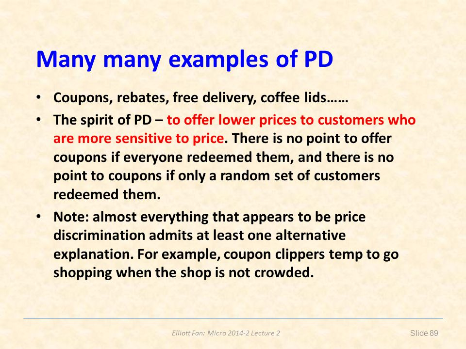Many many examples of PD