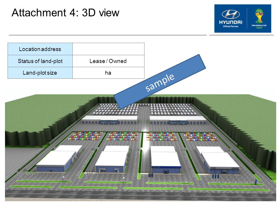 Attachment 4: 3D view sample Location address Status of land-plot