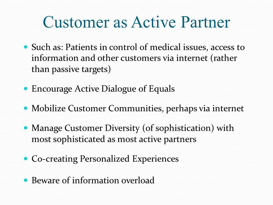 Customer as Active Partner