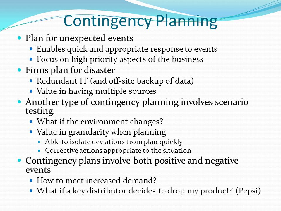 Business Strategy Instructor Michael Cooke ppt download – Sample Business Contingency Plan