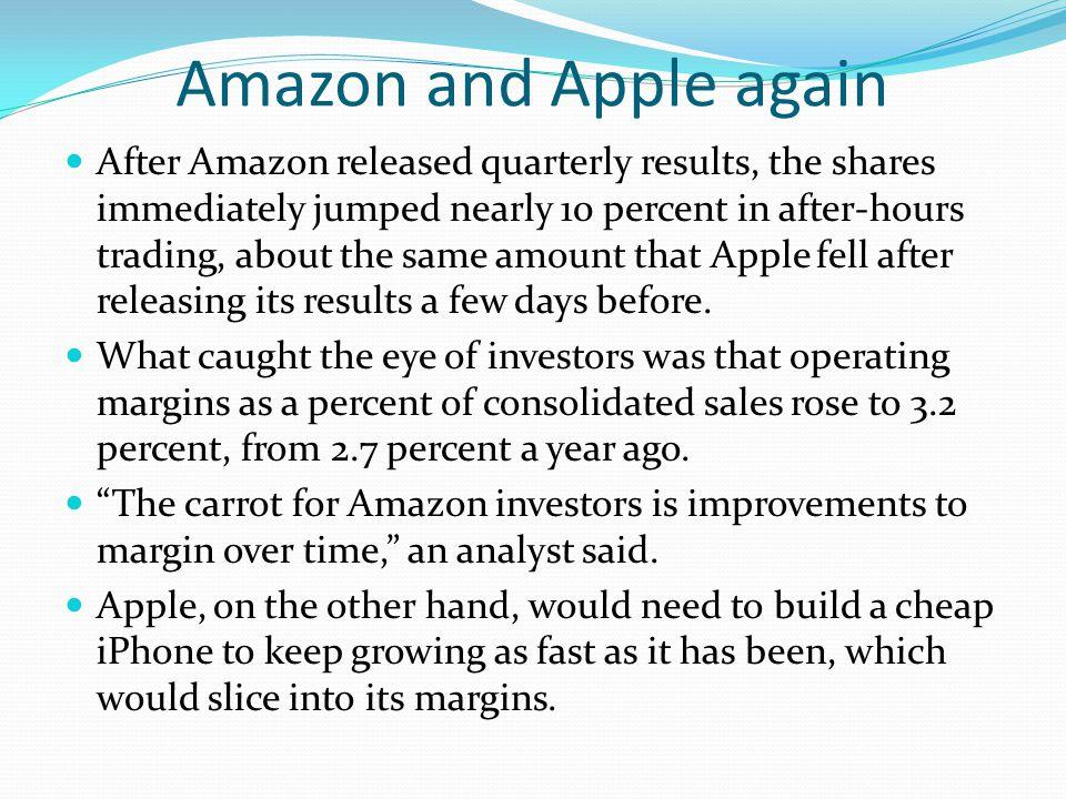 Amazon and Apple again