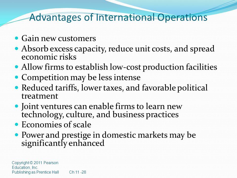 Advantages of International Operations