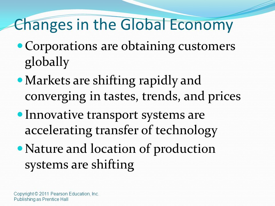 Changes in the Global Economy