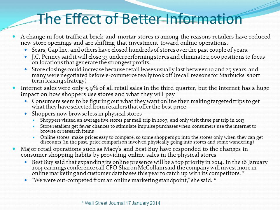 The Effect of Better Information
