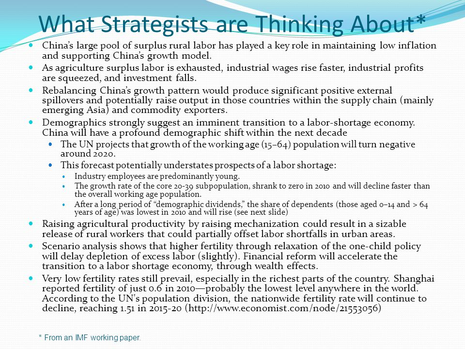 What Strategists are Thinking About*