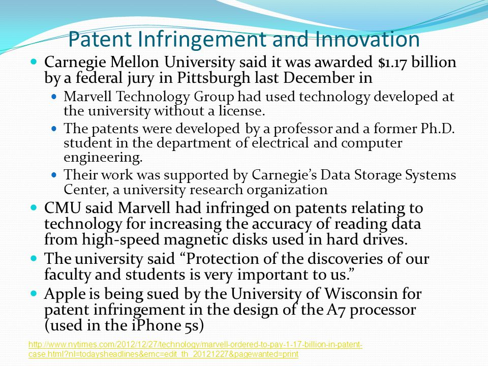 Patent Infringement and Innovation