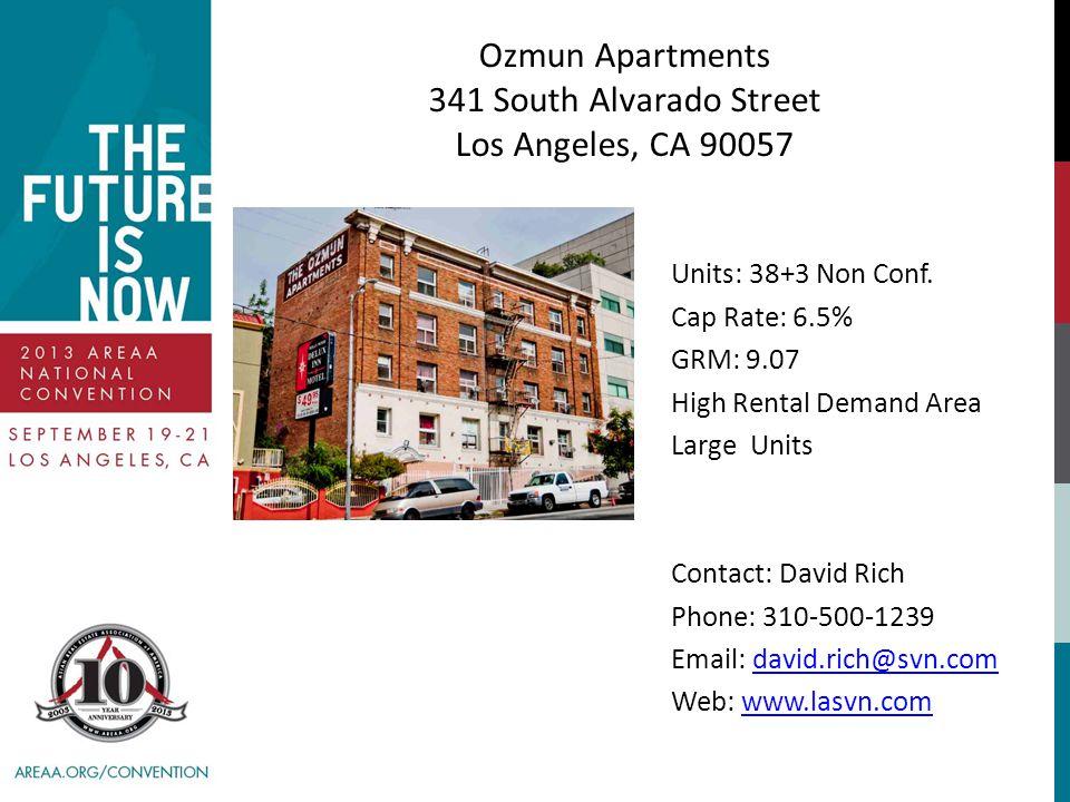 Ozmun Apartments 341 South Alvarado Street Los Angeles, CA 90057