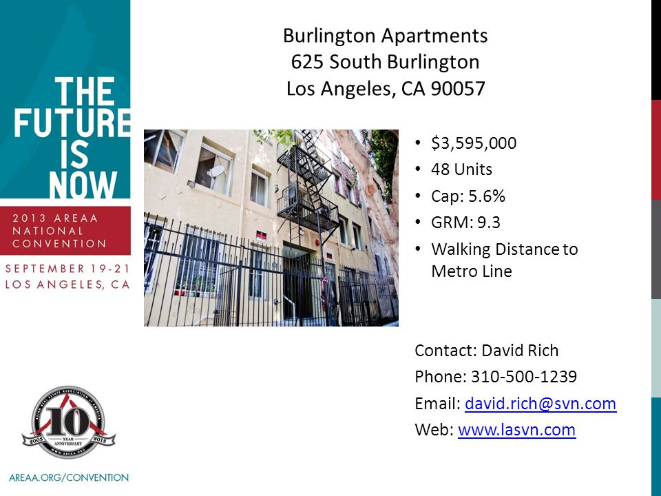 Burlington Apartments 625 South Burlington Los Angeles, CA 90057