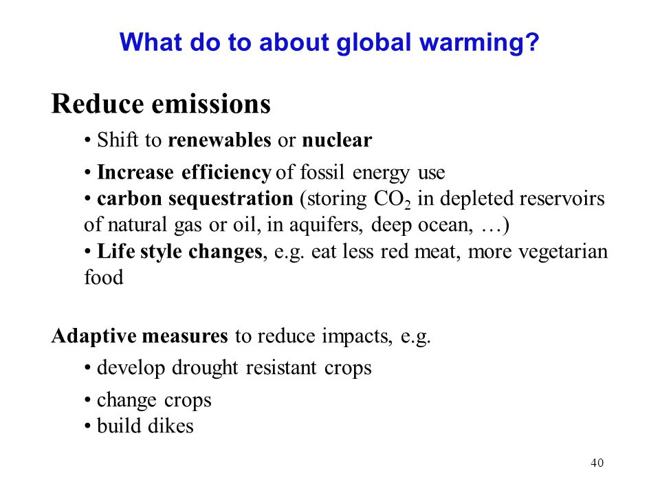 What do to about global warming