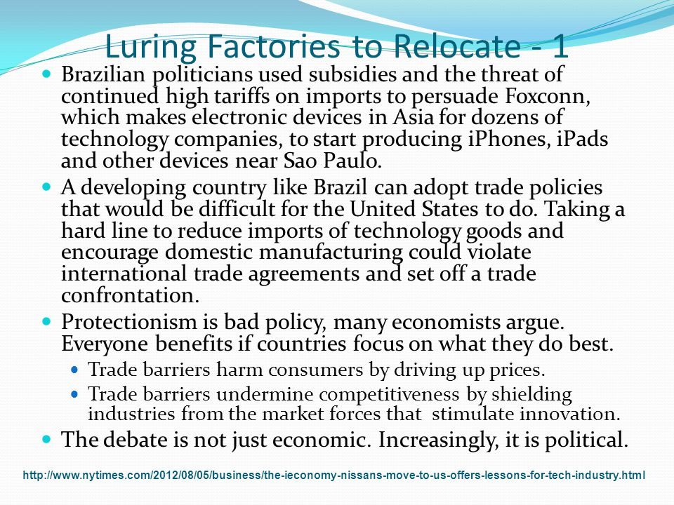 Luring Factories to Relocate - 1