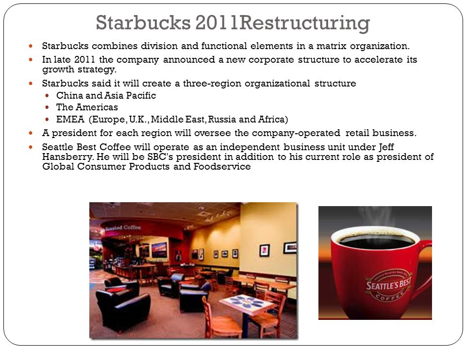 Starbucks 2011Restructuring