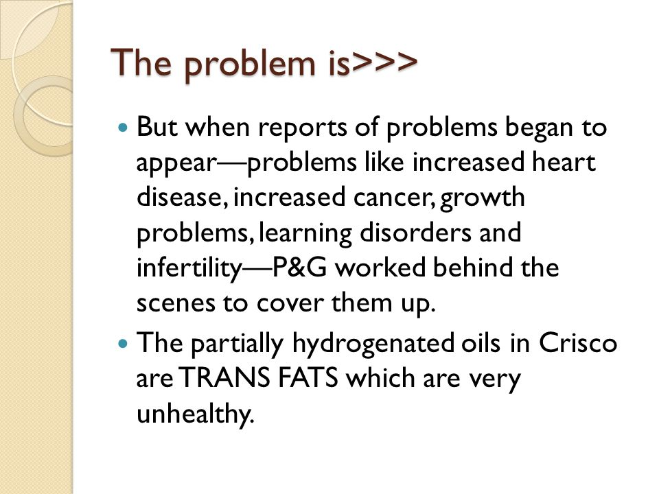 The problem is>>>