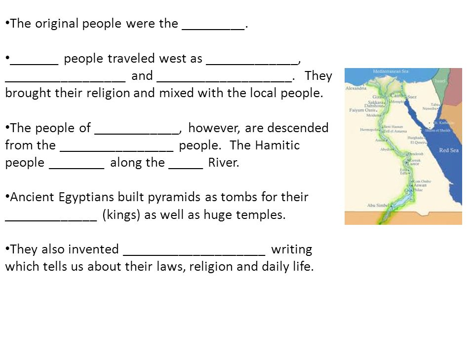 The original people were the _________.