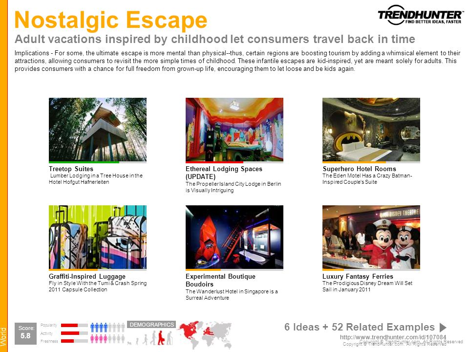 Nostalgic Escape Adult vacations inspired by childhood let consumers travel back in time.