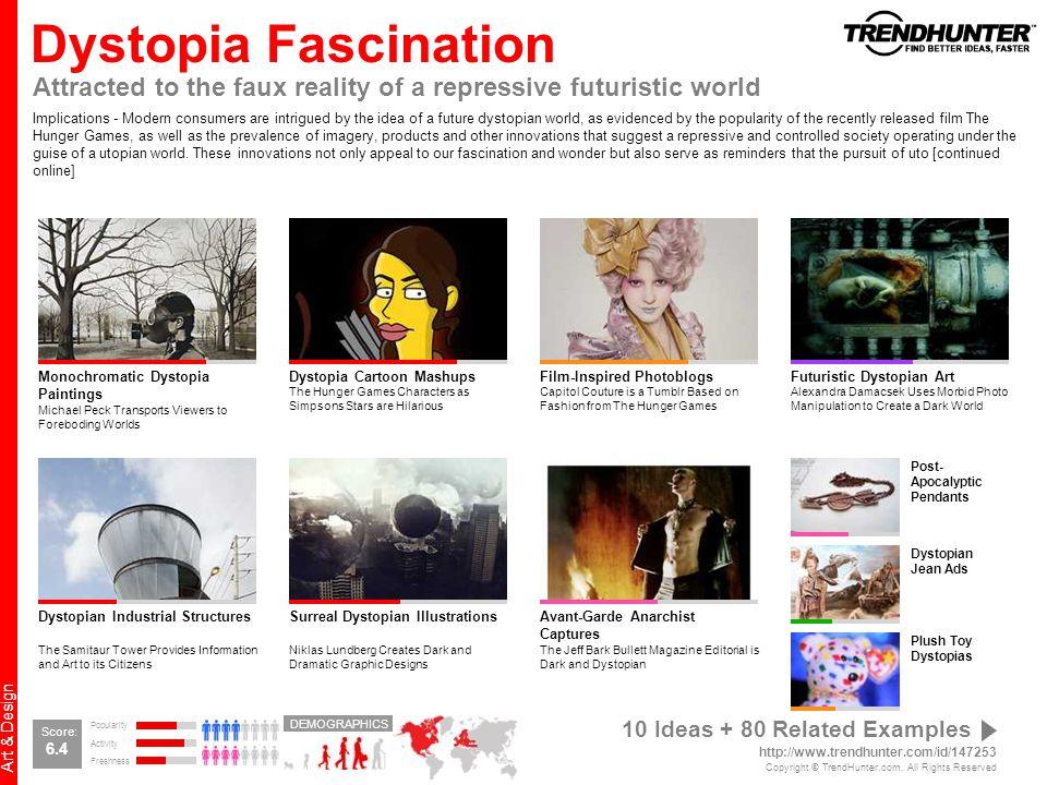 Dystopia Fascination Attracted to the faux reality of a repressive futuristic world.