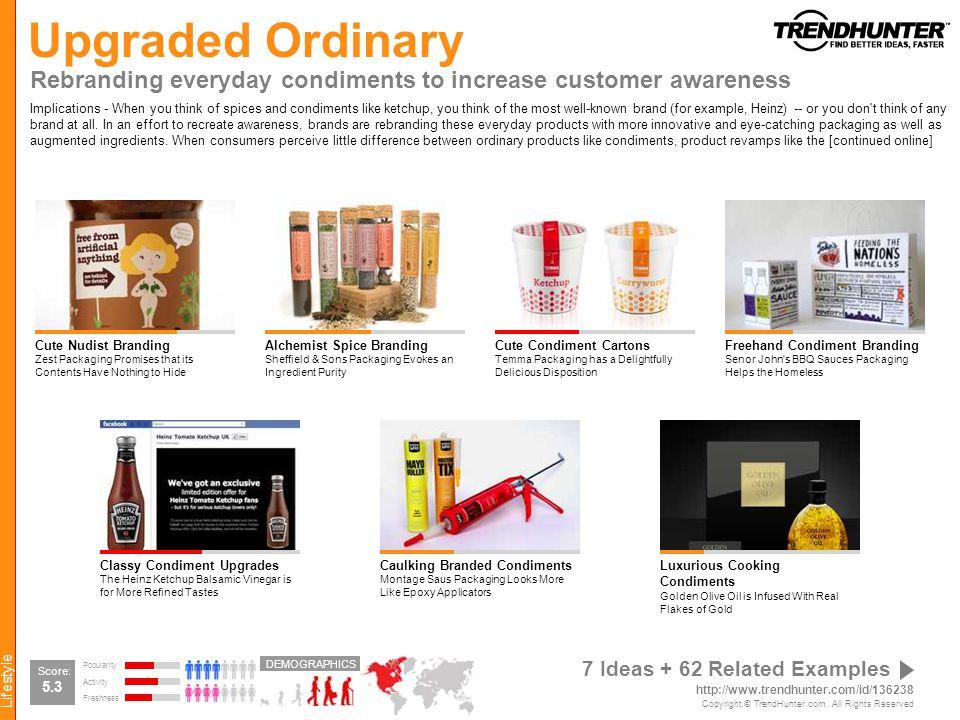 Upgraded Ordinary Rebranding everyday condiments to increase customer awareness.