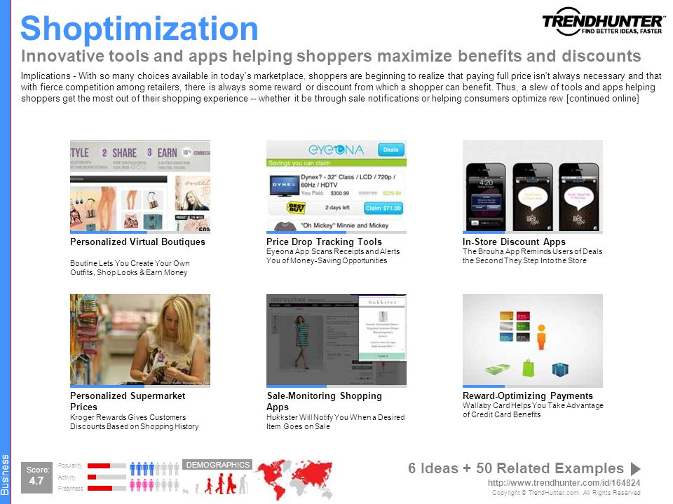 Shoptimization Innovative tools and apps helping shoppers maximize benefits and discounts.