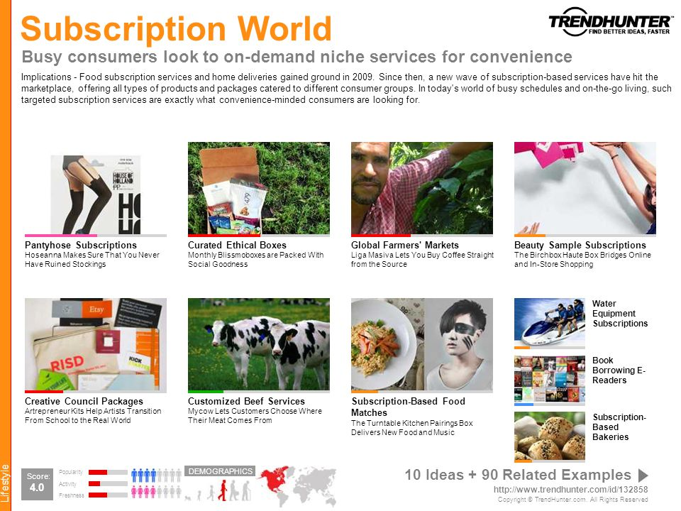 Subscription World Busy consumers look to on-demand niche services for convenience.