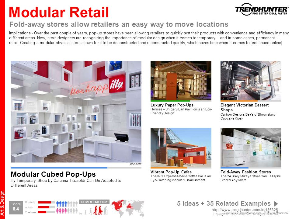 Modular Retail Fold-away stores allow retailers an easy way to move locations.