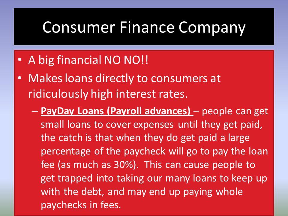 Consumer Finance Company