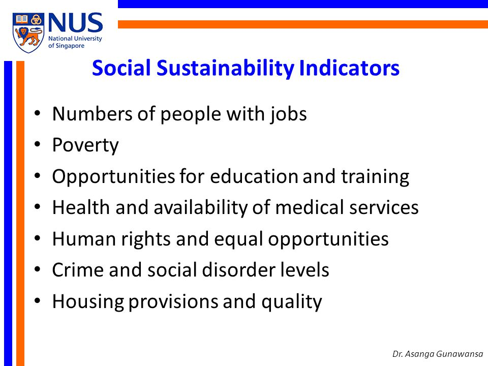 Social Sustainability Indicators