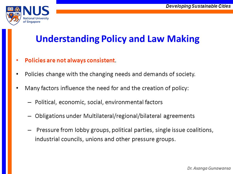 Understanding Policy and Law Making