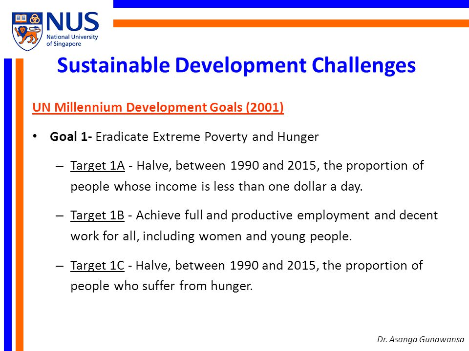 Sustainable Development Challenges
