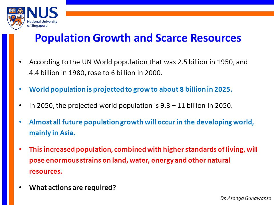 Population Growth and Scarce Resources