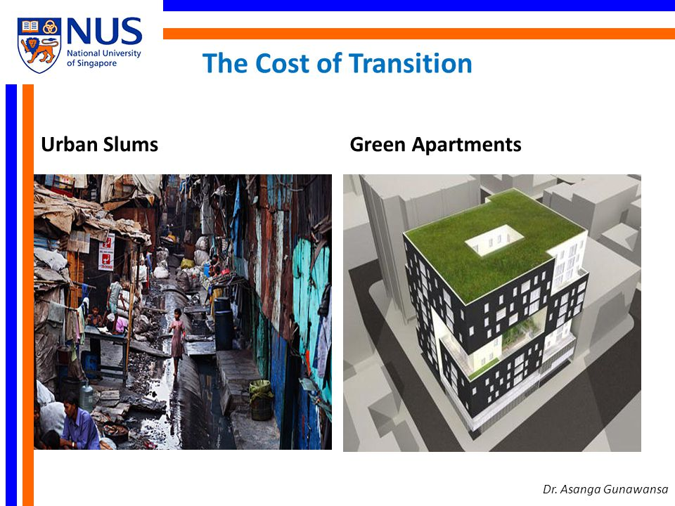 The Cost of Transition Urban Slums Green Apartments