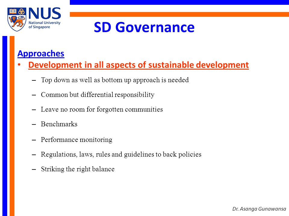 SD Governance Approaches