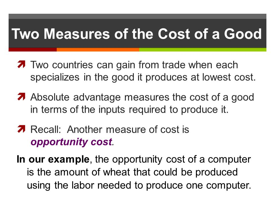 Two Measures of the Cost of a Good
